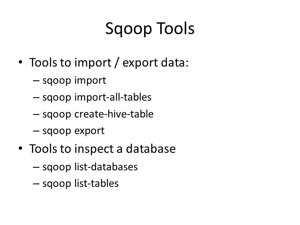 how to create databases in sqoop