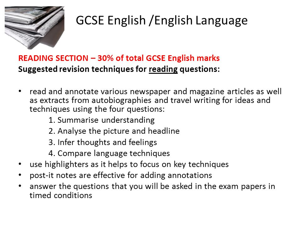 gcse english This course is suitable for those who wish to gain a gcse english qualification  for progression within employment or education entry onto the course will be.