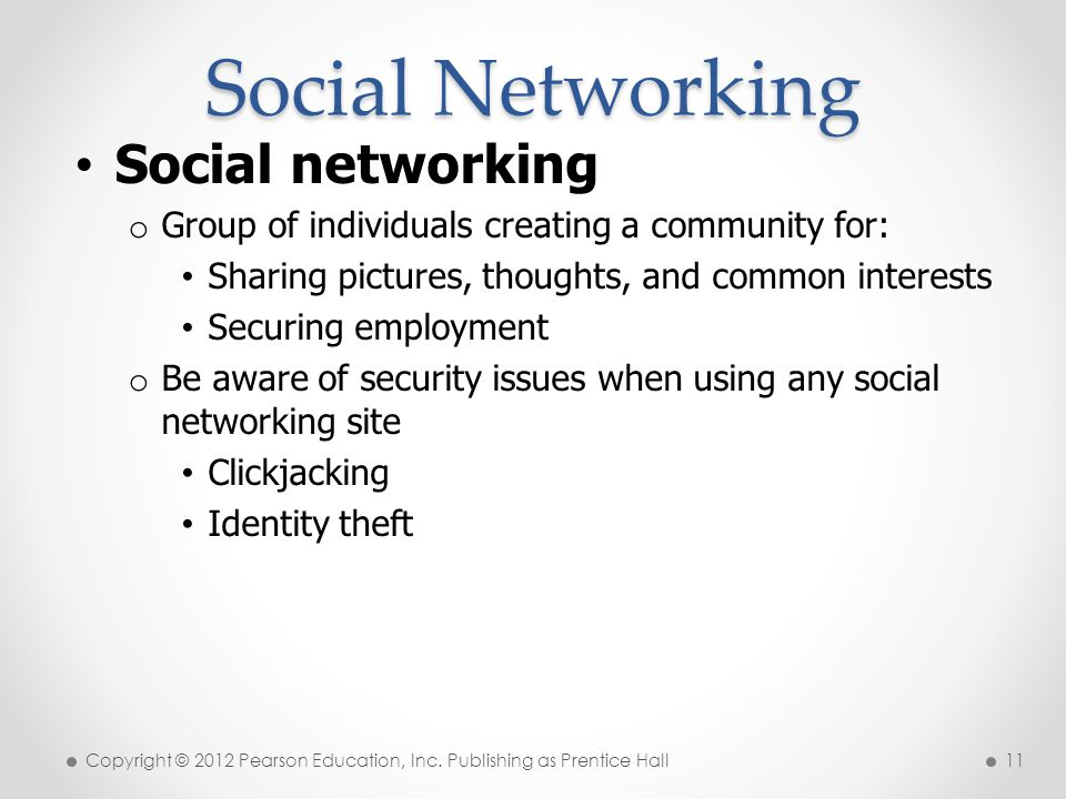 Social Networking Social networking