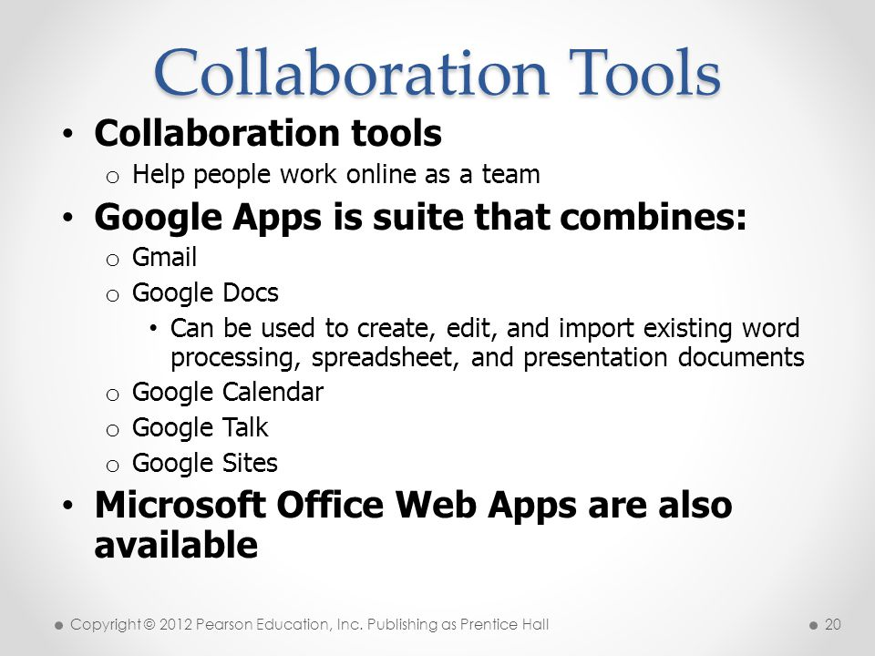 Collaboration Tools Collaboration tools