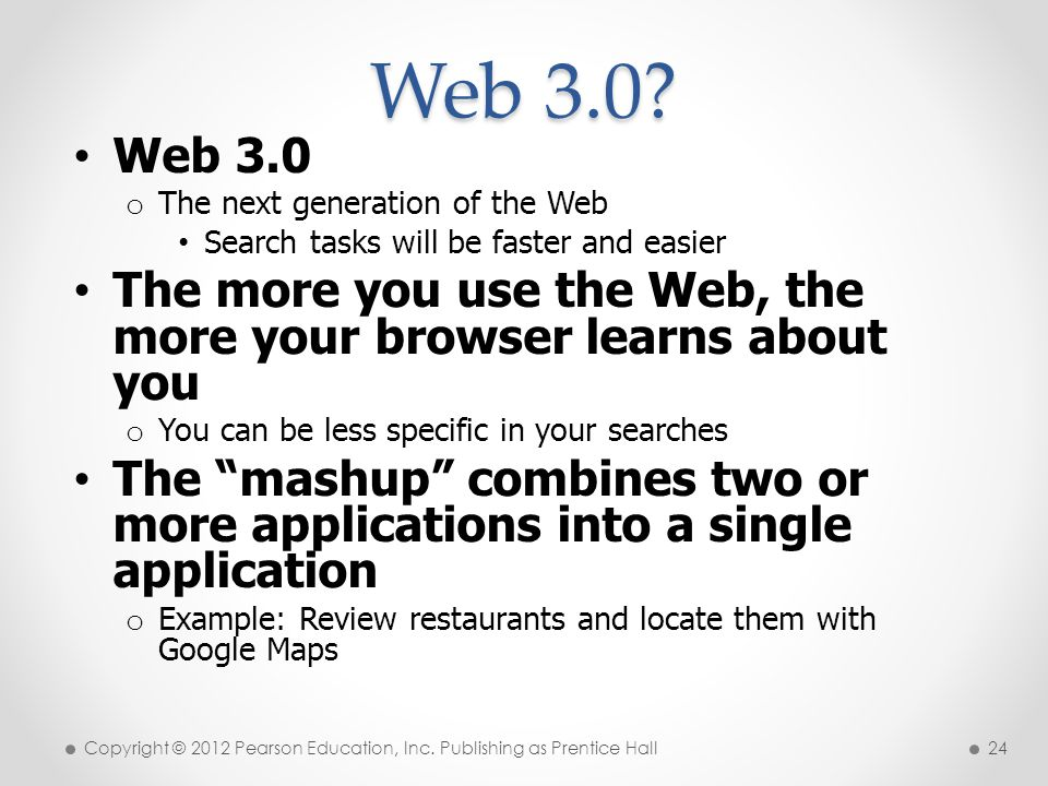 * 07/16/96. Web 3.0 Web 3.0. The next generation of the Web. Search tasks will be faster and easier.