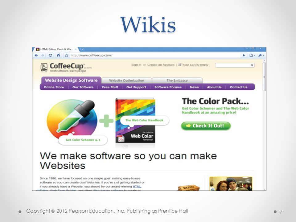 * Wikis 07/16/96 Copyright © 2012 Pearson Education, Inc. Publishing as Prentice Hall *