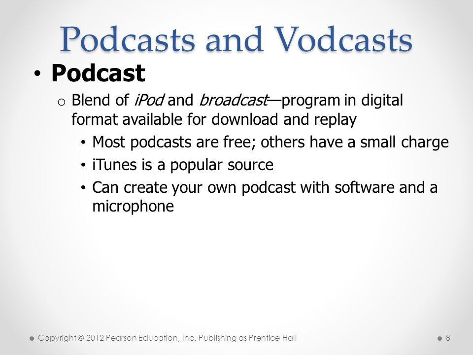 Podcasts and Vodcasts Podcast