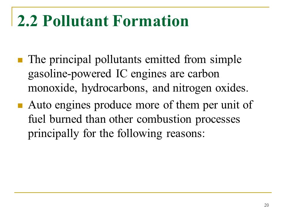 2.2 Pollutant Formation