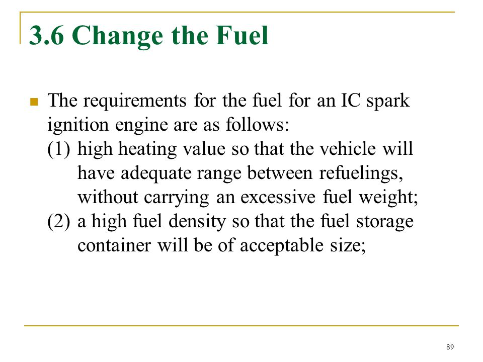 3.6 Change the Fuel