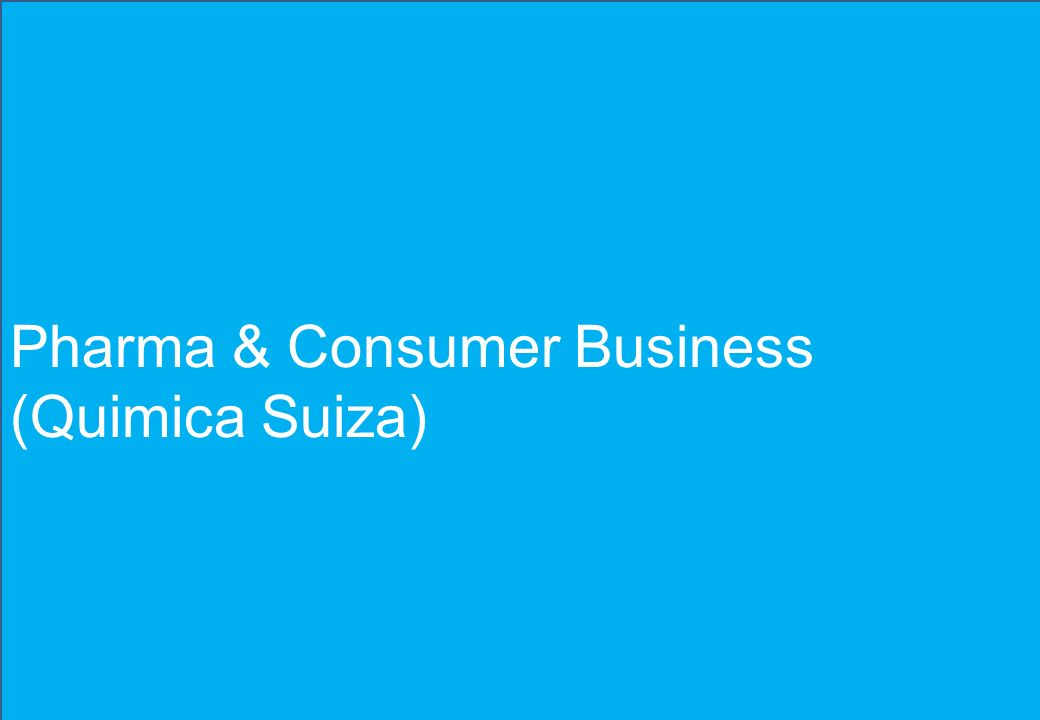 Pharma & Consumer Business