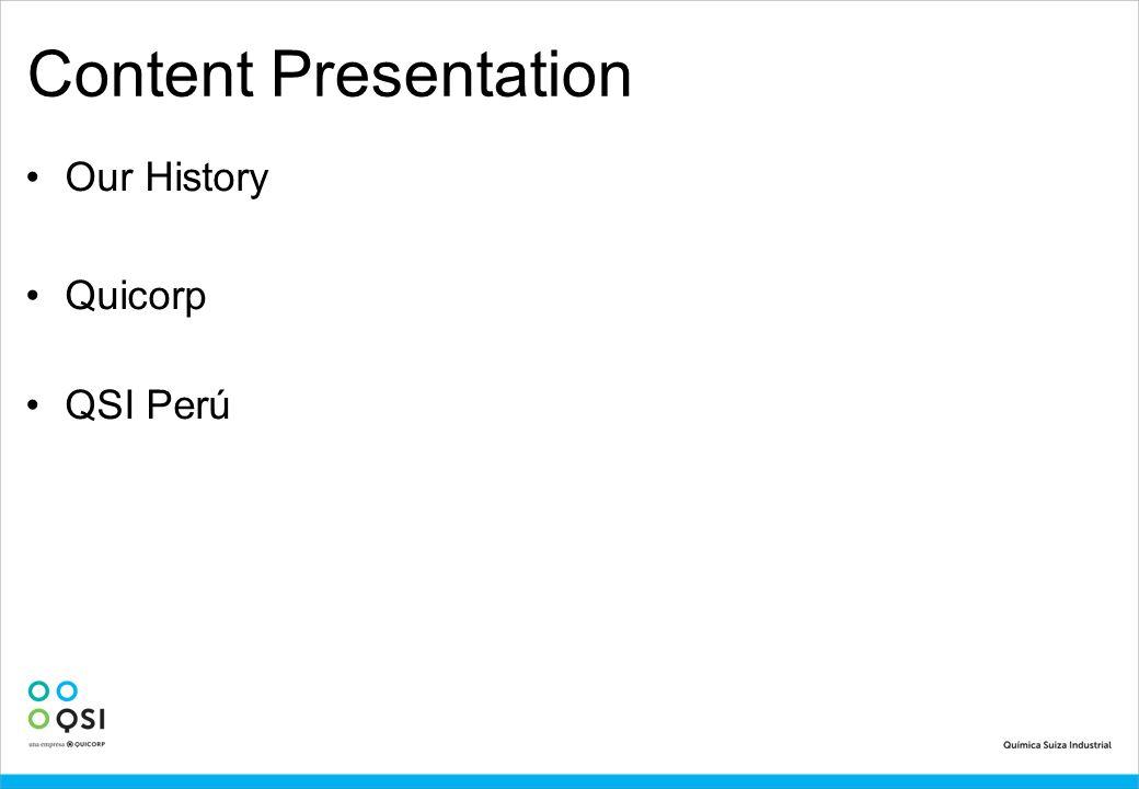 Content Presentation Our History Quicorp QSI Perú