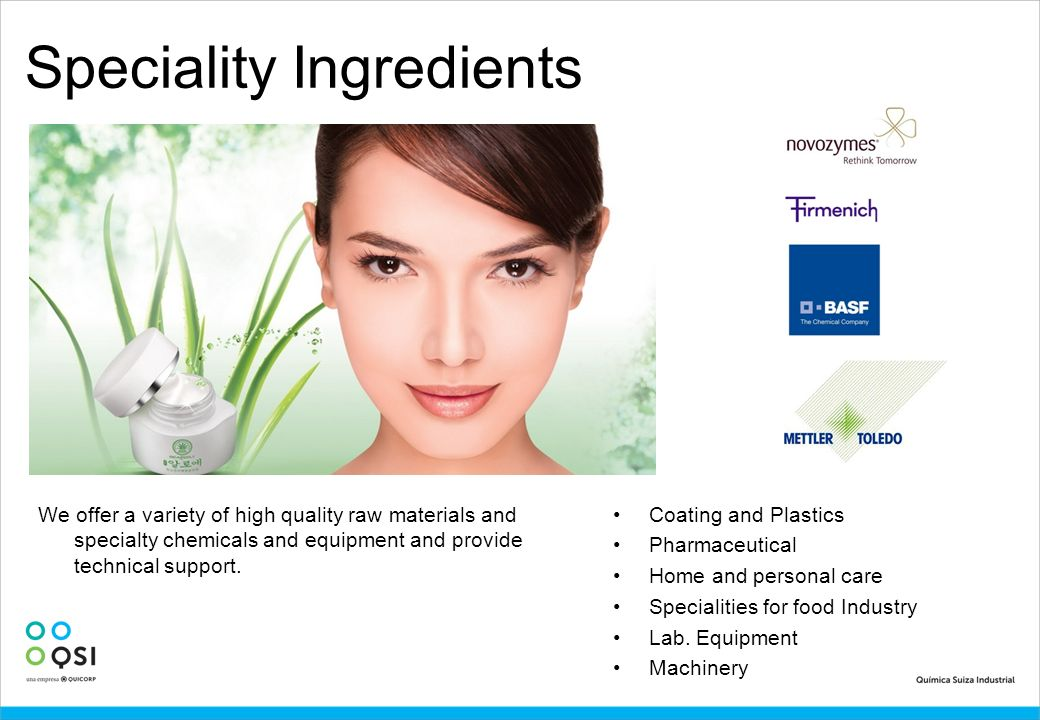 Speciality Ingredients