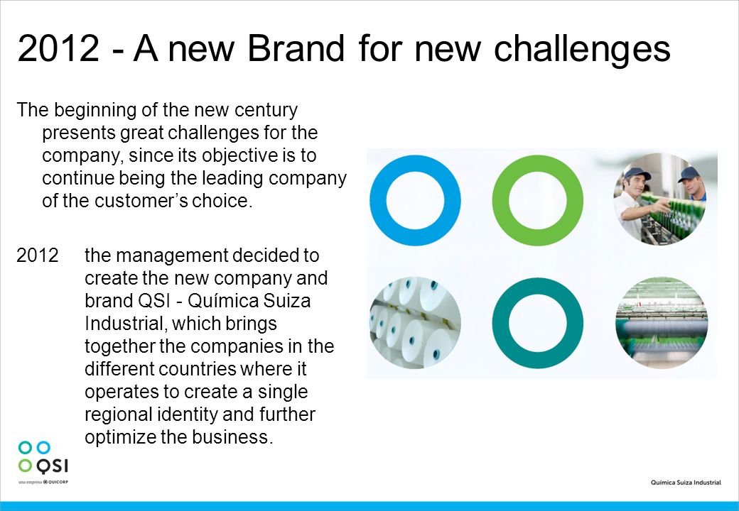 2012 - A new Brand for new challenges