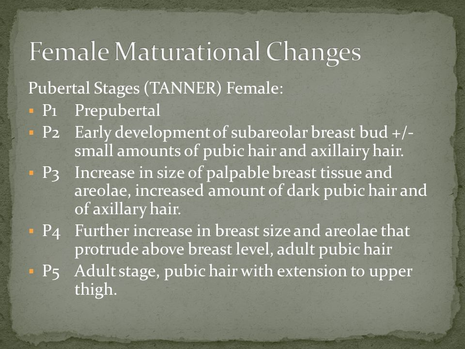 Female Maturational Changes