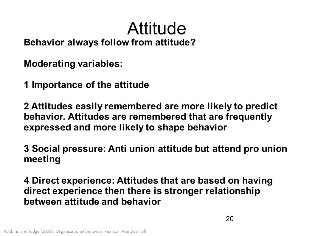 attitude and job satisfaction ppt robbins Inspiring video on positive attitude  tony robbins: how to develop winning attitude  i love my job choose your attitude at work.