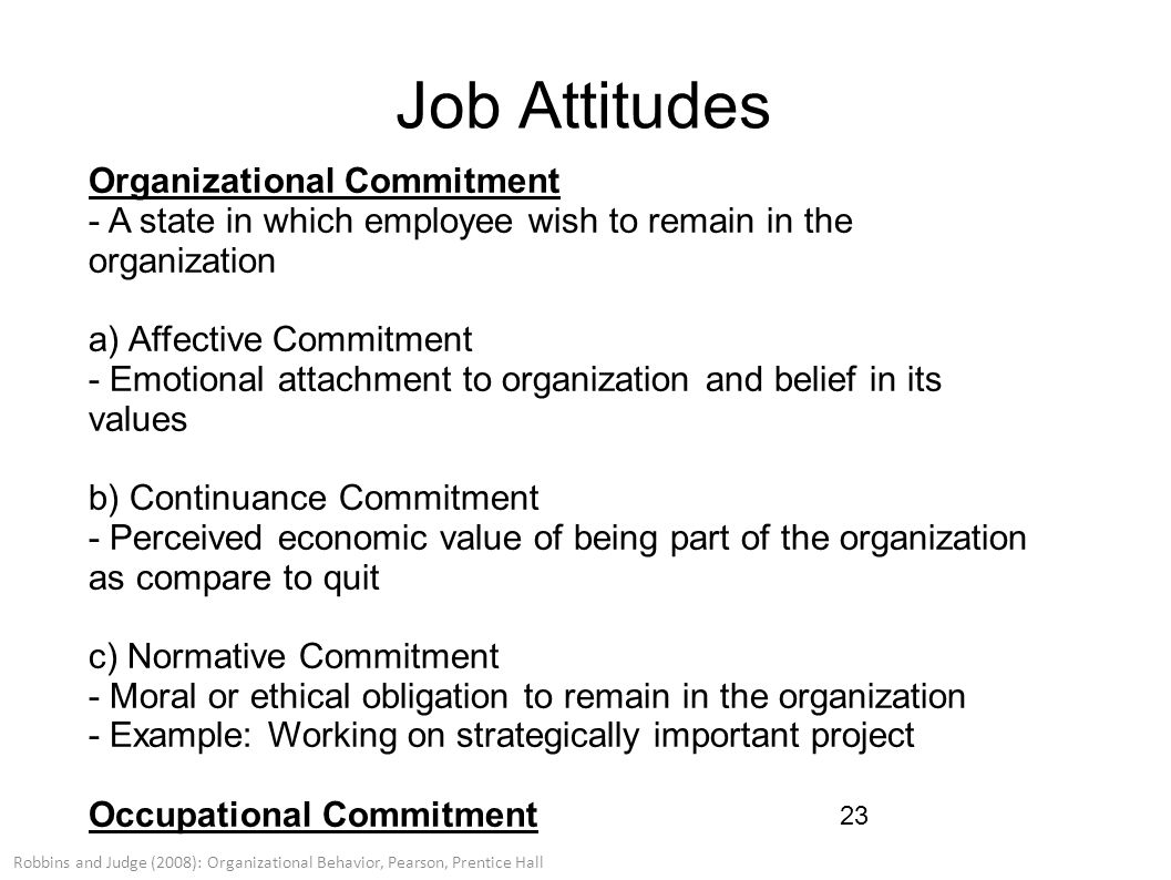 organizational commitment of employees at work Organizational commitment predicts work and distribution of leadership have been shown to be connected to a worker's sense of organizational commitment employee.