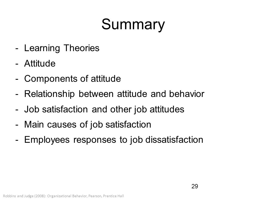 employee attitudes and job satisfaction ppt The main focus of this study was to examine the level of job satisfaction of employees of attitude towards one's job the job satisfaction of employees.