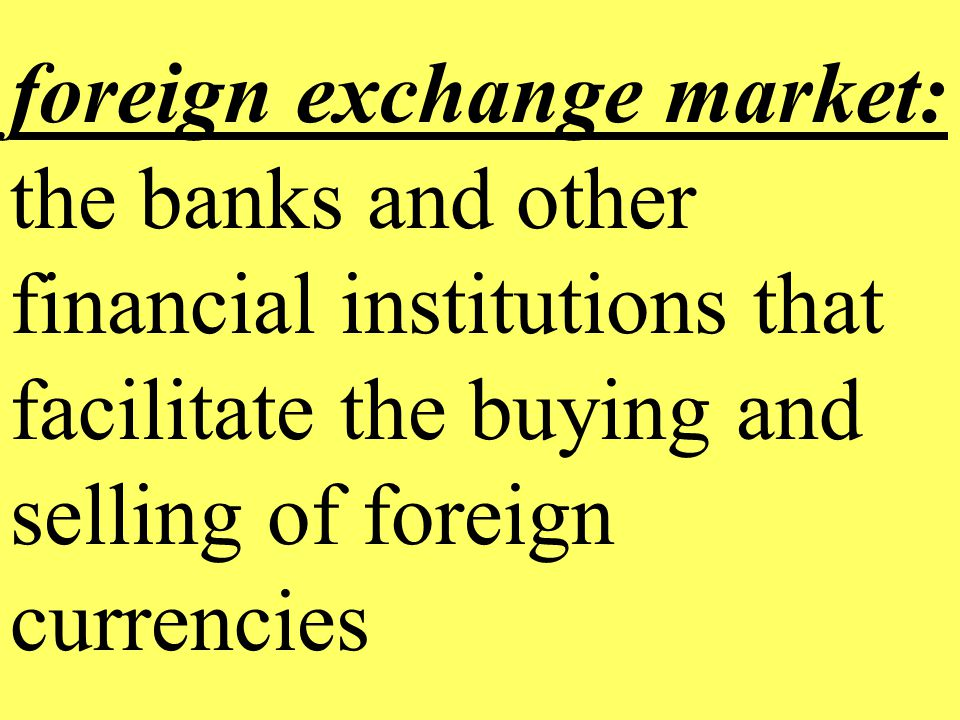 Buy and sell foreign currency
