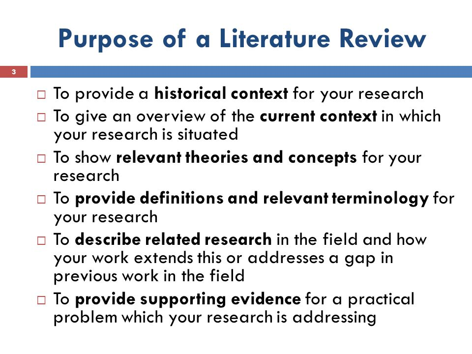 Writing Literature Review