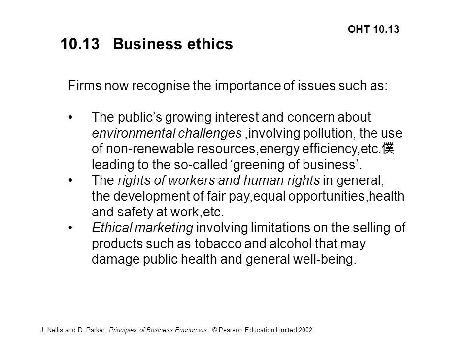 The Growing Importance Of Business Ethics