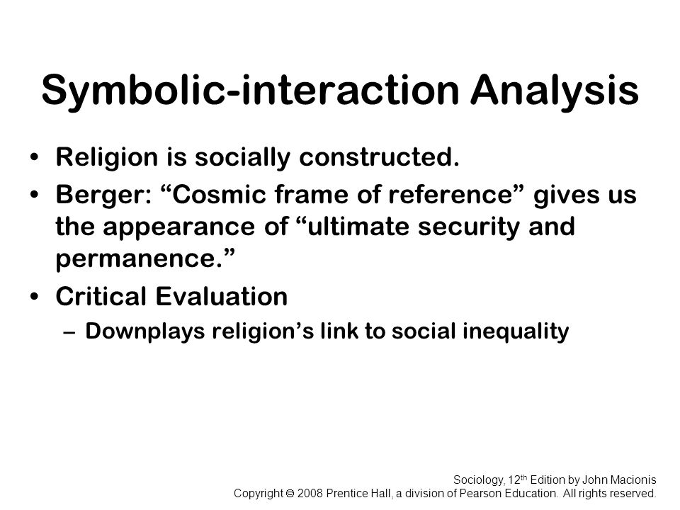 Symbolic Interactionist Perspective Media Analysis Term Paper