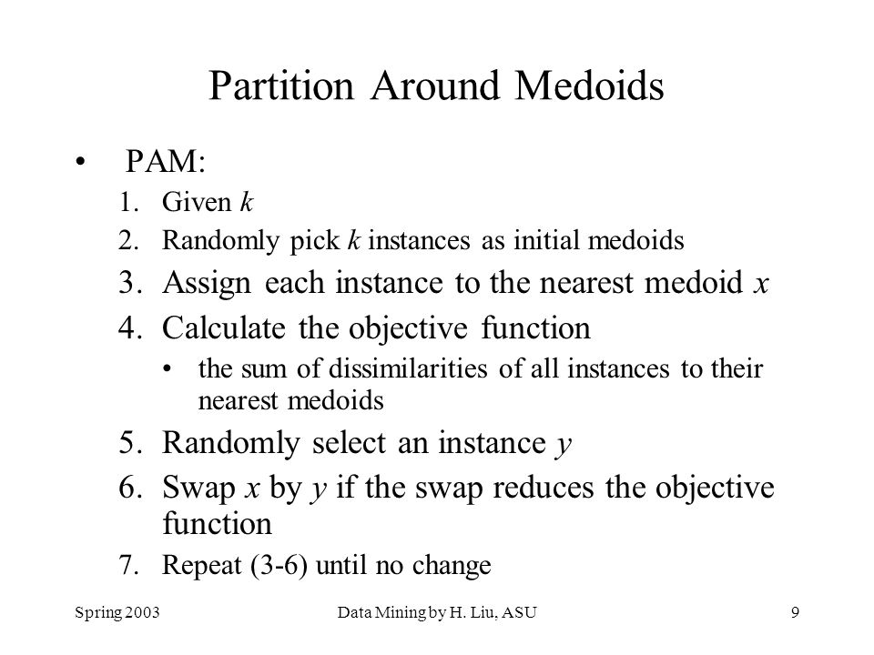 Partition Around Medoids