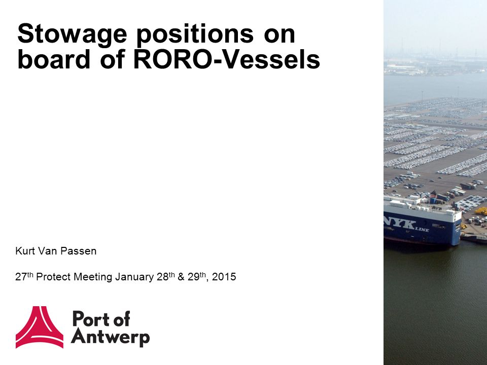 Stowage positions on board of RORO-Vessels