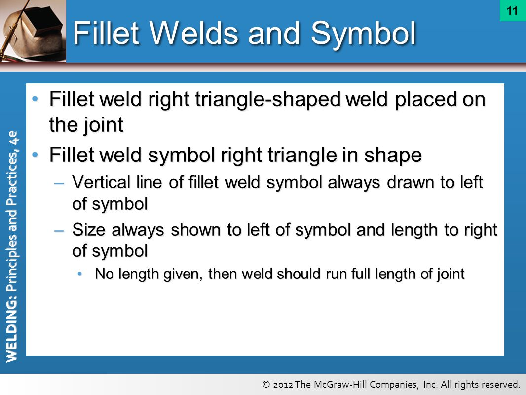 Welding symbols chapter ppt video online download fillet welds and symbol buycottarizona Image collections
