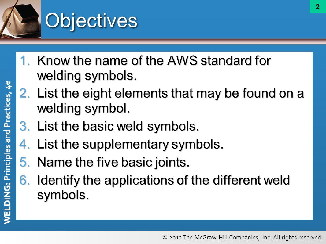 Welding symbols chapter ppt video online download objectives know the name of the aws standard for welding symbols buycottarizona Image collections