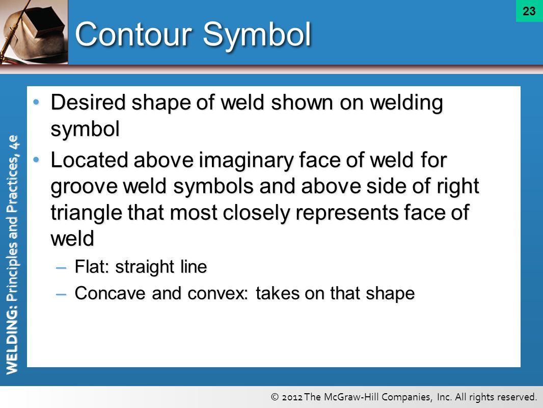 Welding symbols chapter ppt video online download contour symbol desired shape of weld shown on welding symbol buycottarizona Image collections