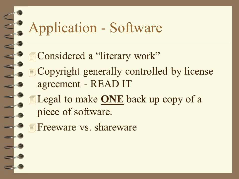 Application - Software