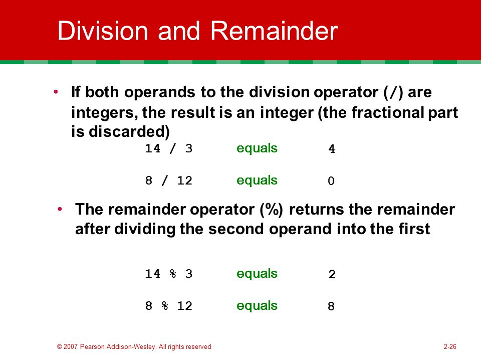 Division and Remainder