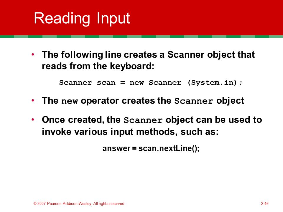 how to use scan next line java