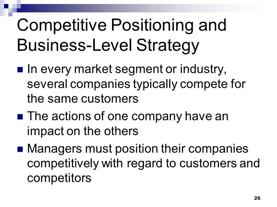 competitive strategies in business pdf