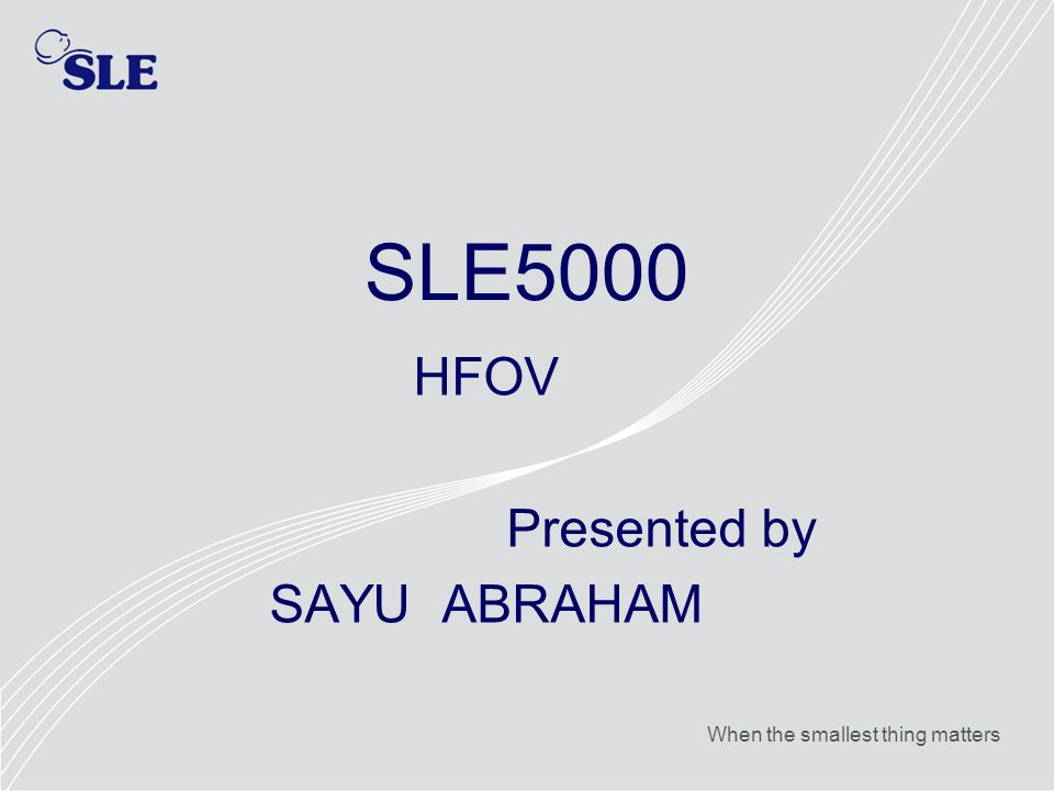 HFOV Presented by SAYU ABRAHAM