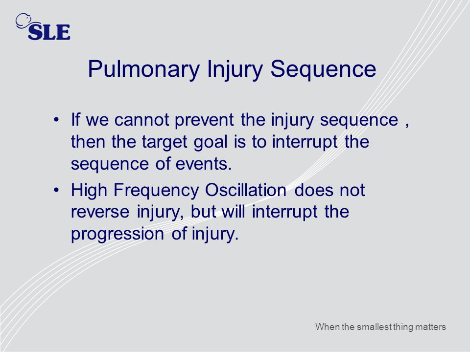 Pulmonary Injury Sequence