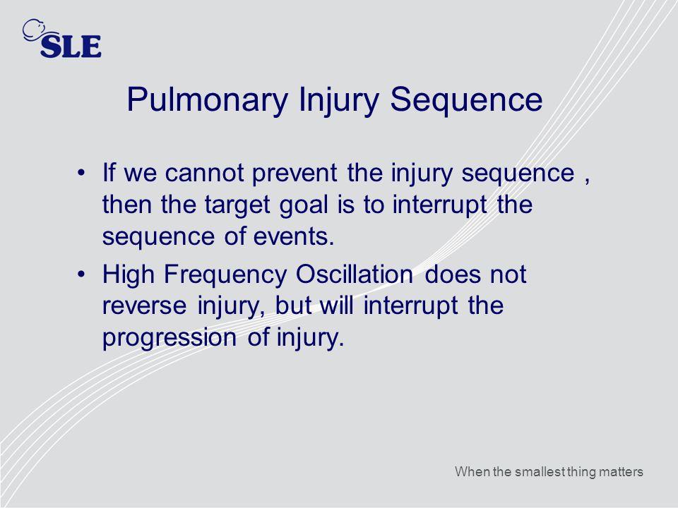 Pulmonary Injury Sequence