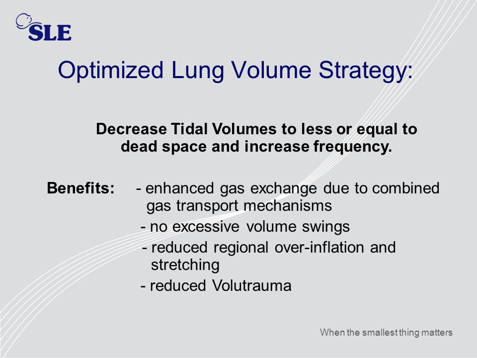 Optimized Lung Volume Strategy: