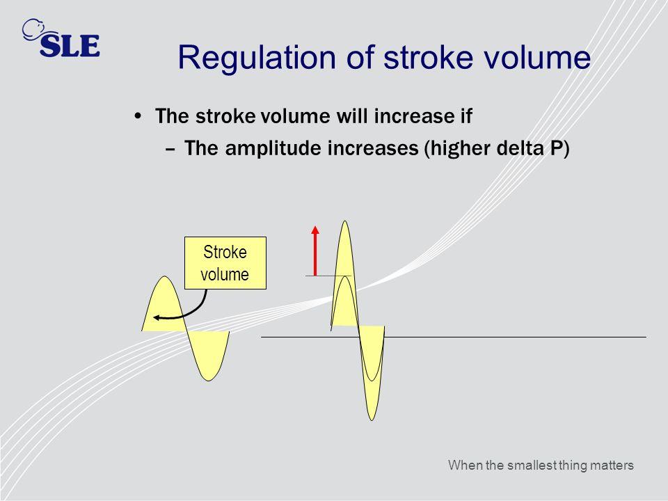 Regulation of stroke volume