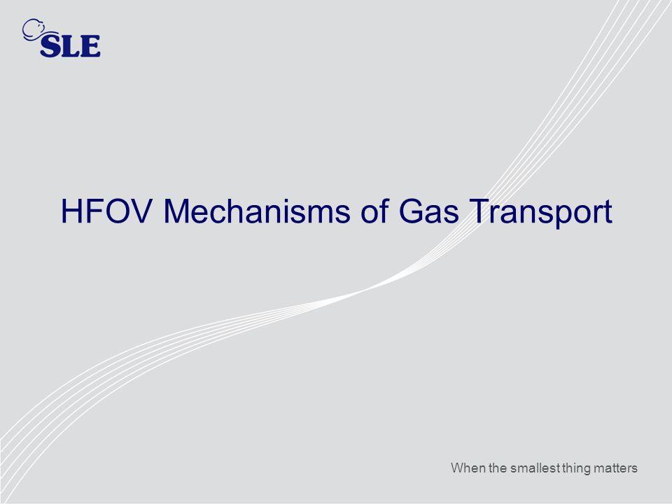HFOV Mechanisms of Gas Transport