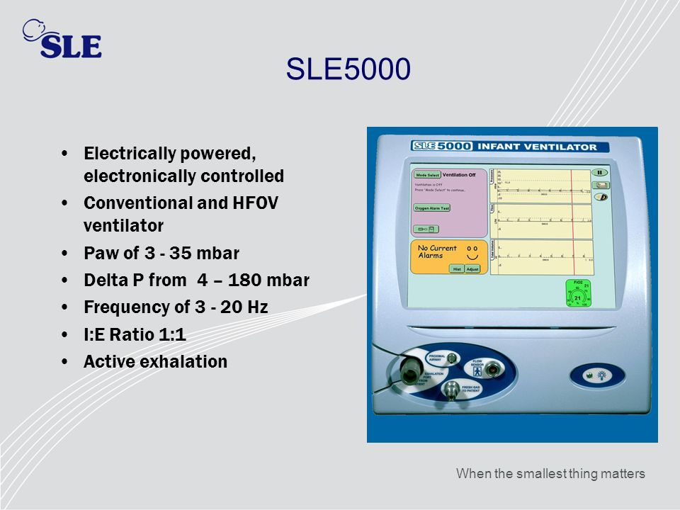SLE5000 Electrically powered, electronically controlled