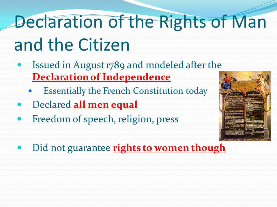 an introduction to the declaration of the rights of man and the citizen in 1789 That the idea of human rights was common currency in the late eighteenth century is evident in the fact that the declaration of the rights of man and citizen, adopted by the french national assembly in 1789, worked from the same basic reflections on natural and political man.