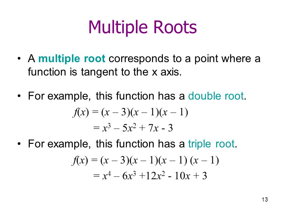 how to find the function from roots