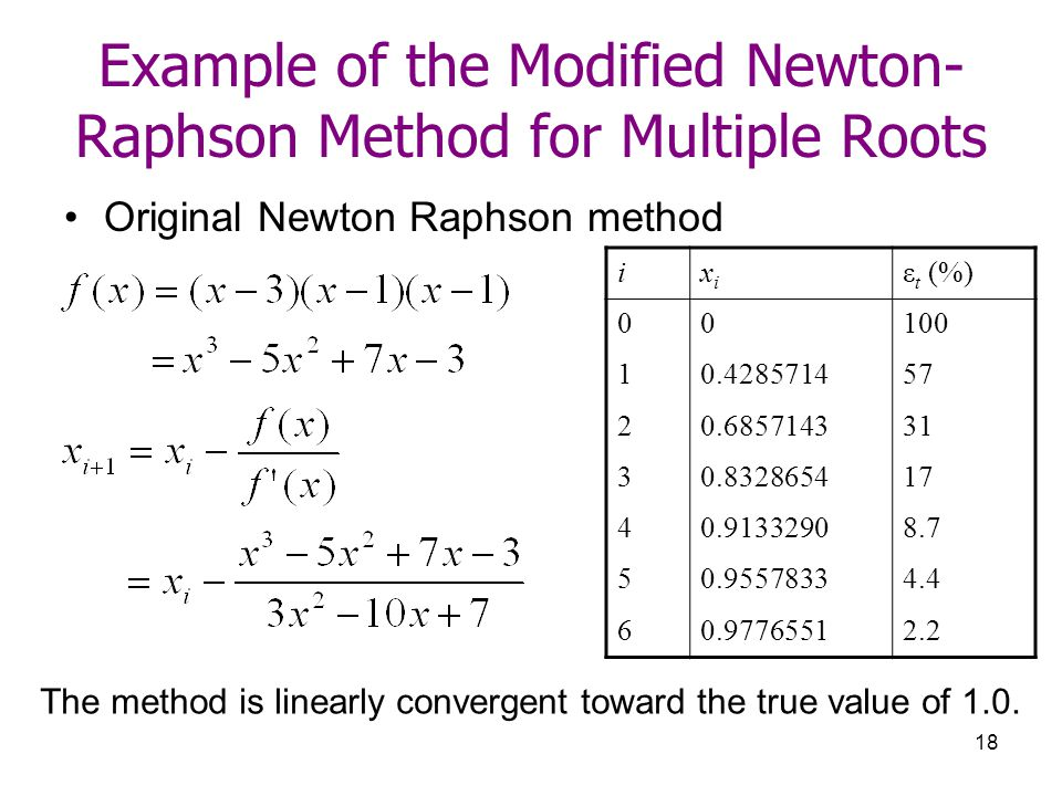 newton raphson method example Here is a set of practice problems to accompany the newton's method section of the applications of derivatives chapter of the notes for paul dawkins calculus i course at lamar university.