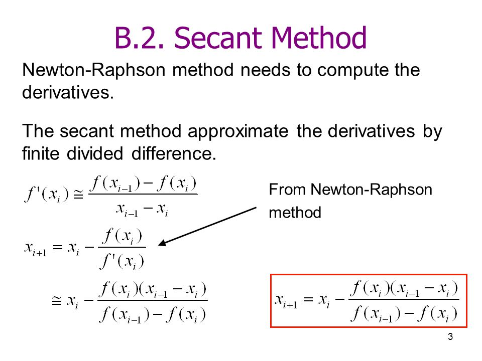 how to choose initial values for secant method