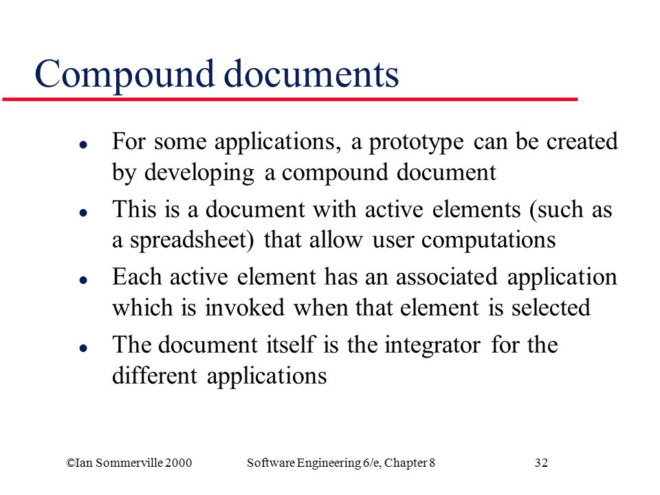 Software Engineering 6/e, Chapter 8