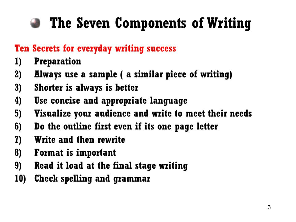 components of essay writing Learn how to conquer your paragraph by having command over the topic and then you will be on the way to write golden essays, stories and term papers.