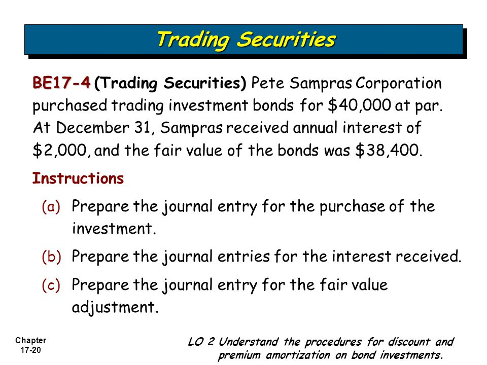 Trading securities journal entry