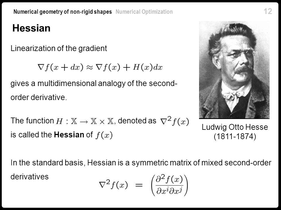 Hessian Linearization of the gradient