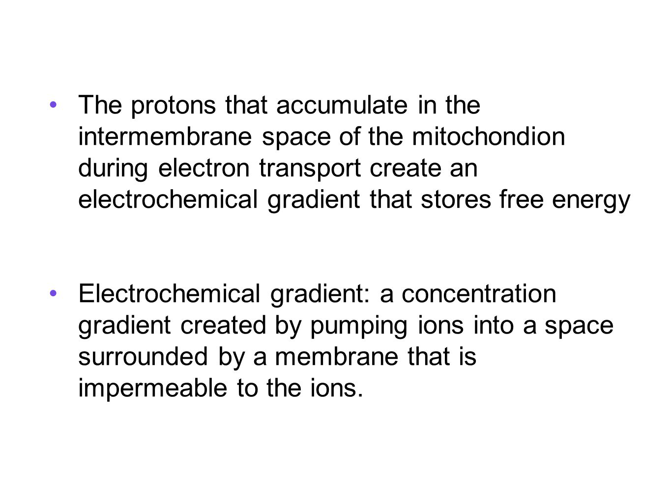 STAGE 4: ELECTRON TRANSPORT and CHEMIOSMOSIS - ppt download