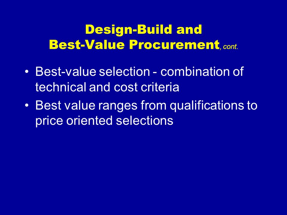 Consultant Selection and Procurement