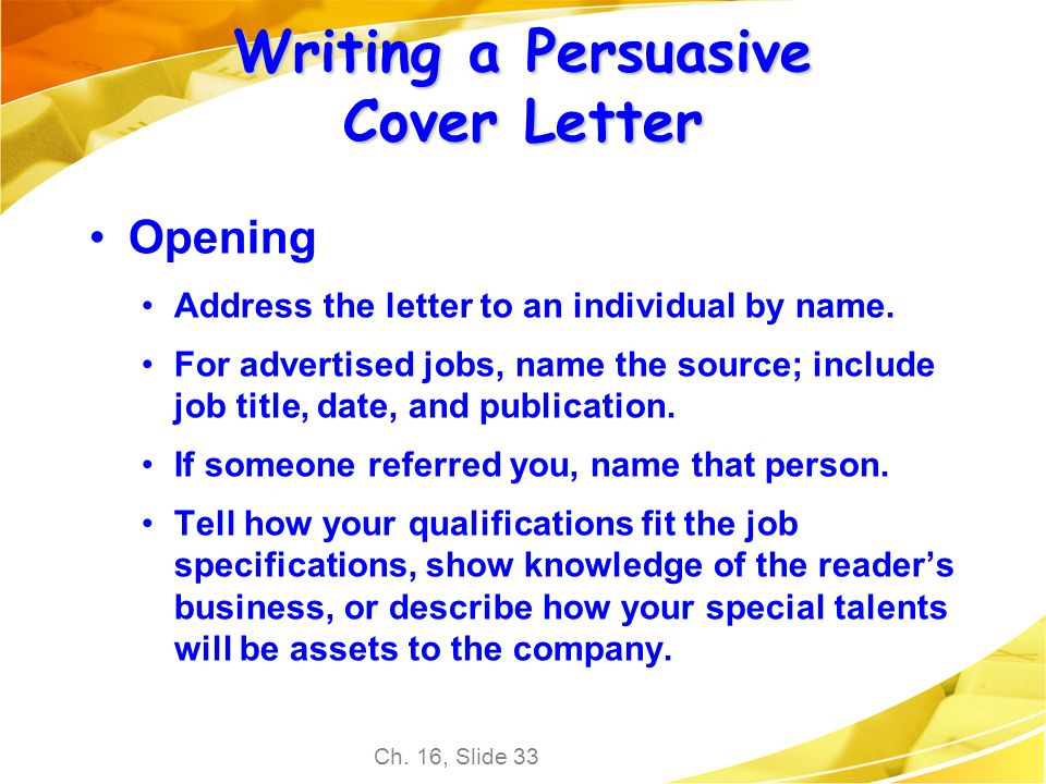 Cover letter no contact person