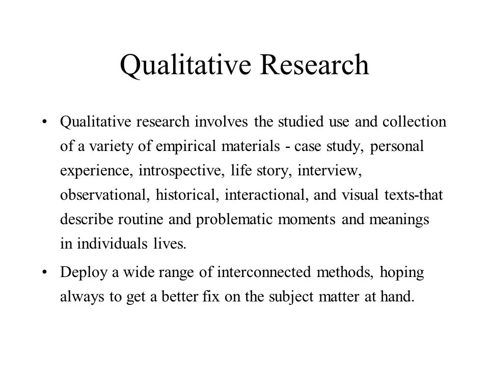 ipa qualitative research Qualitative research is used to gain insights into people's feelings and thoughts, which may provide the basis for a future stand-alone qualitative study or may help researchers to map out survey instruments for use in a quantitative study.