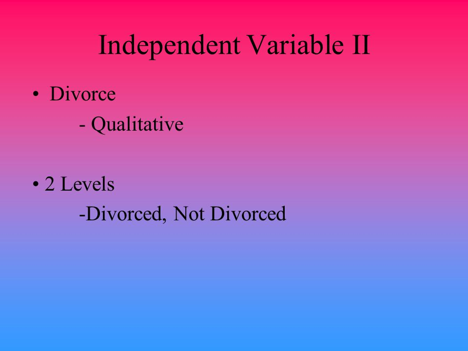Independent Variable II